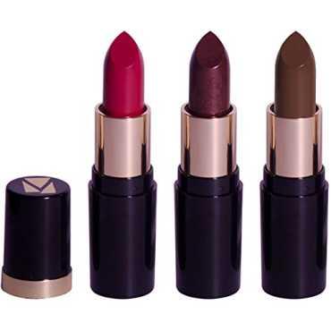 Viviana Velvet Lipstick Pack 54 (Set of 3) (Multicolor)
