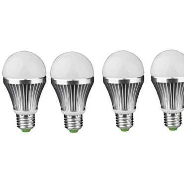 IPP 3W E27 Aluminium Body White LED Bulb (Pack of 4) - White