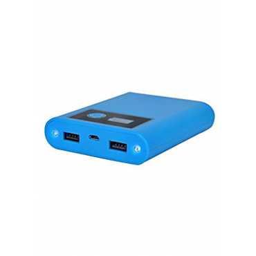 Lappymaster 12000mAh LED Display Power Bank - Blue