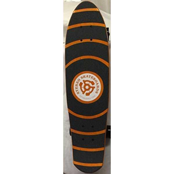 Stereo  Wooden Vinyl Cruiser Complete Skateboard - Orange