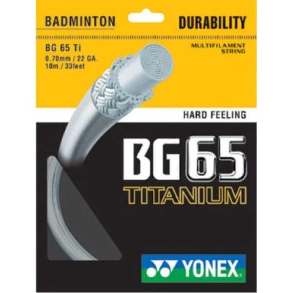 Yonex Bg 65 0.70mm Titaniu Racket String 10m - Pink