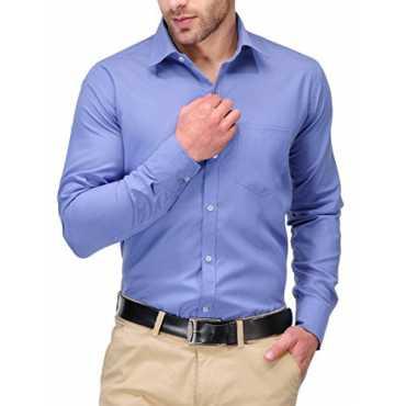 Men's Cotton Blend Formal Shirts (Kpms_Fp04_40Ob_Blue_40)