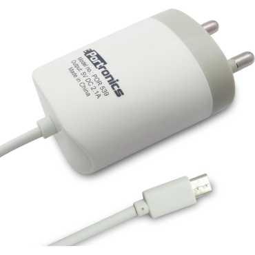 Portronics POR-539 2.1A Micro USB Wall Charger - White