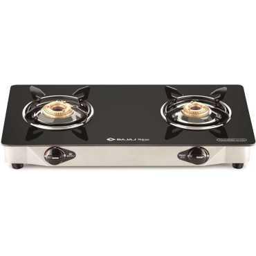 Bajaj Majesty CGX2 ECO SS 2 Burner Gas Cooktop - Black
