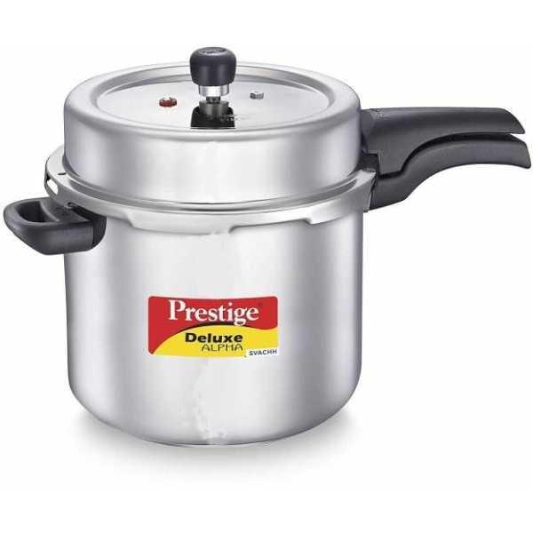 Prestige Deluxe Alpha Svachh 10L Pressure Cooker (Induction Bottom,Outer Lid)