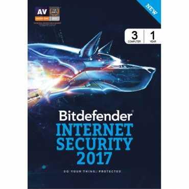 Bitdefender Internet Secuirty 2017 3 PC 1 Year Antivirus (Voucher)