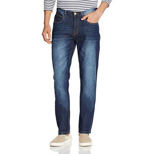 Newport Men's Slim Fit Jeans (8907542142767_269262901_34W x 32L_Blue Dark Stone)
