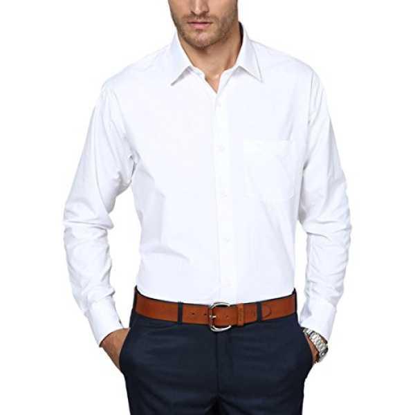 LONDON Men's Formal Shirt (PR007slimz--40, White, 40)