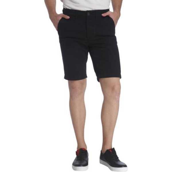 Jack & Jones Solid Men's Black Chino Shorts
