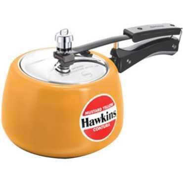 Hawkins Contura CMY50 Aluminium 5 L Pressure Cooker (Inner Lid) - Yellow