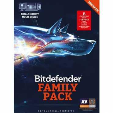 Bitdefender Family Pack 2017 3 PC 3 Year Antivirus (Activation Key)