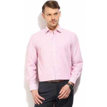 Men's Striped Formal Pink Shirt
