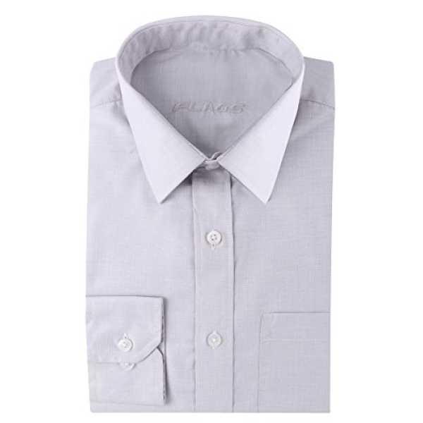 Flags Light Grey Color Men's Formal Shirt Size 46