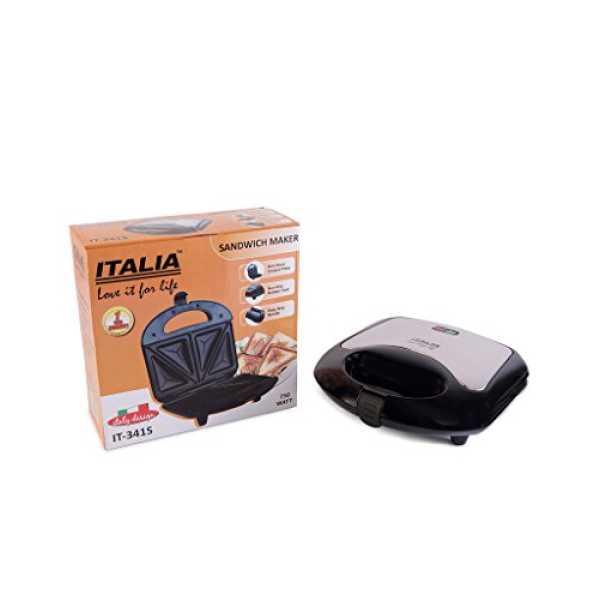 Italia IT-341-S 750W 4 Slice Sandwich Maker