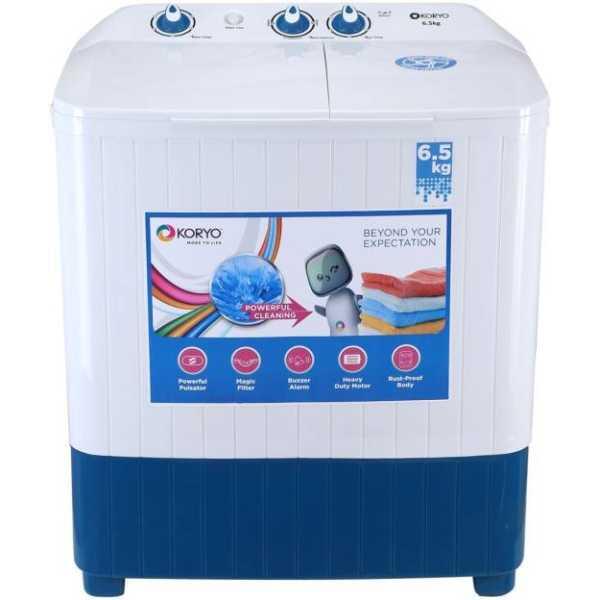 Koryo 6.5 kg Semi Automatic Top Load Washing Machine(KWM6820SA)