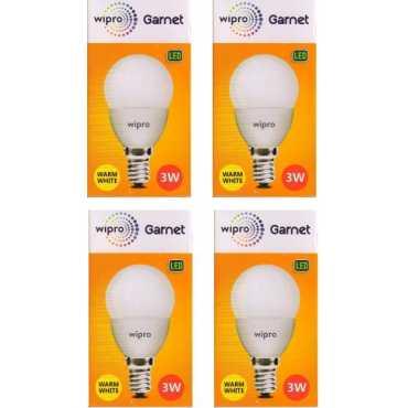 Wipro Garnet 3W Standard E14 270L LED Bulb (Yellow,Pack of 4) - Yellow