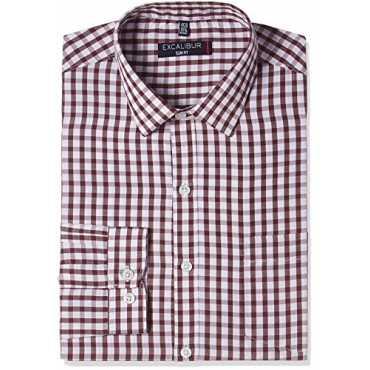 Men's Formal Shirt (8907542353903_270296497_44_Maroon)