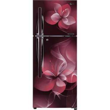 LG GL-T292RSDU 260 L 3 Star Inverter Frost Free Double Door Refrigertor (Dazzle) - Maroon
