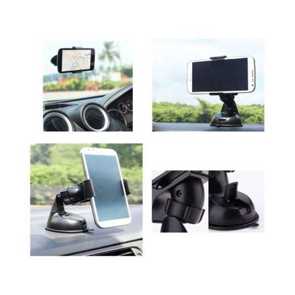 Zeus Single Clamp Car Mobile Holder - Black