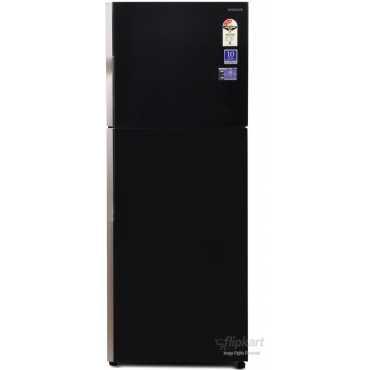 Hitachi R-VG400PND3 382 Litres Double Door Refrigerator - Black