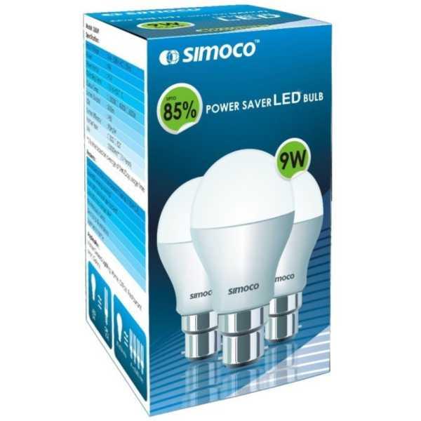 Simoco 9W B22 LED Bulb (White)