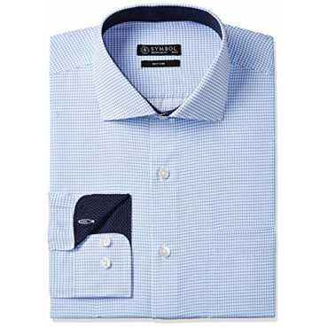 Symbol Men's Formal Regular Fit Shirt (S17MBS094_44_Sky)