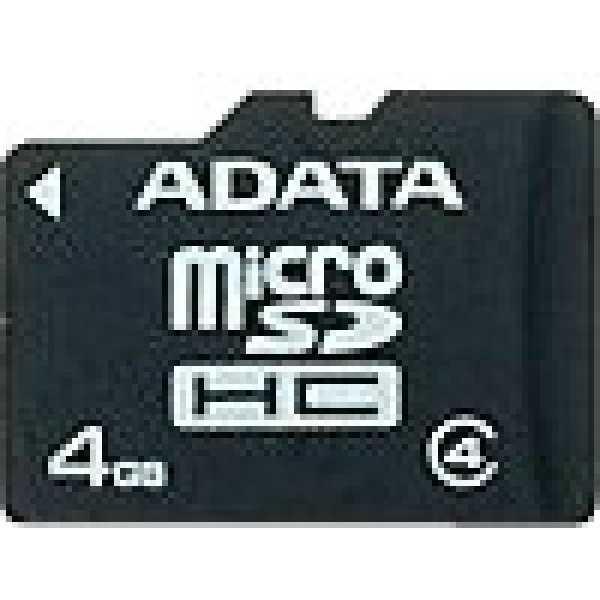AData 4GB MicroSDHC Class 4 Memory Card