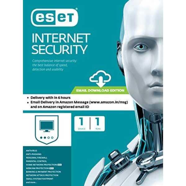 Eset Internet Security 1 PC 1 Year Antivirus (Key Only)