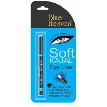 Blue Heaven Soft Kajal Eye Liner (Black) - Black | Blue