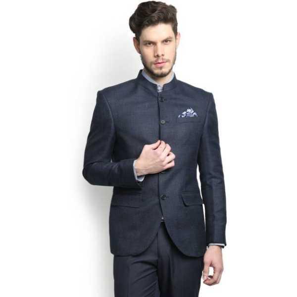 Self Design Single Breasted Casual Men's Blazer