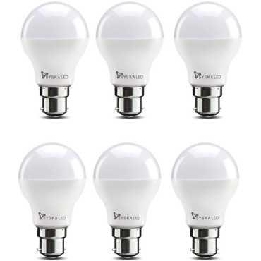 Syska SSK-SRL-7W 7W B22 LED Bulb (White, Pack of 6) - White