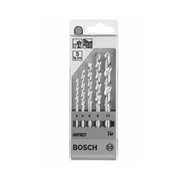 Bosch Masonry Drill Bit Set (4,5,6,8,10mm)