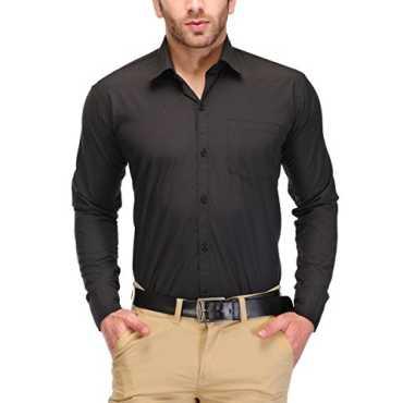 Mens Cotton Formal Shirt (Kpms_Fp03_42B _Black _42)