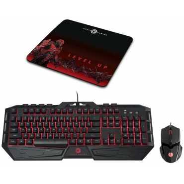 Circle Saberon X1 USB Keyboard & Mouse Combo - Black