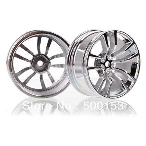 Generic Set RC 1/10 Car On-Road Racing Metal ALLOY Silver Wheel Rims Run Fit HSP 610