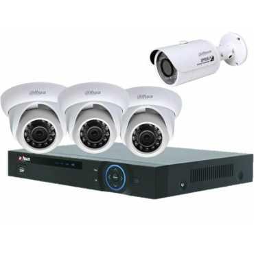 Dahua (HCVR5104H) 4CH DVR 3(HAC-HDW1100SP) Dome Camera,1(HAC-HFW1100SP) Bullet Camera