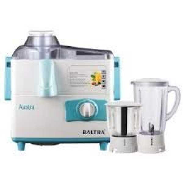 Baltra Austra BJMG-106 500W Juicer Mixer Grinder (2 Jars) - Blue White