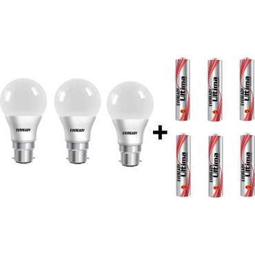Eveready 9 W LED 6500K Cool Daylight Combo Bulb White (pack of 3) - White