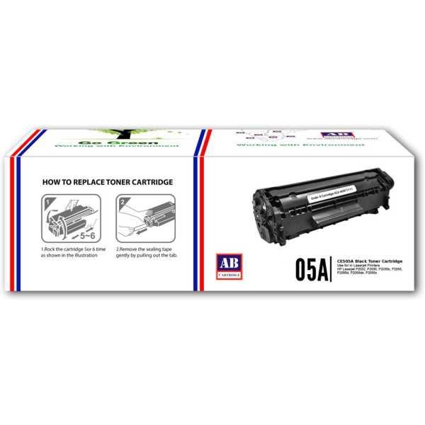 AB Cartridge 05A / CE505A Black Toner Cartridge - Black