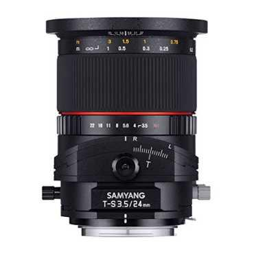 Samyang 24mm F3.5 Tilt Shift Lens (For Canon) - Black