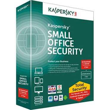Kaspersky Small Office Security 10 PC's, 1 File Server Antivirus (Key Only)