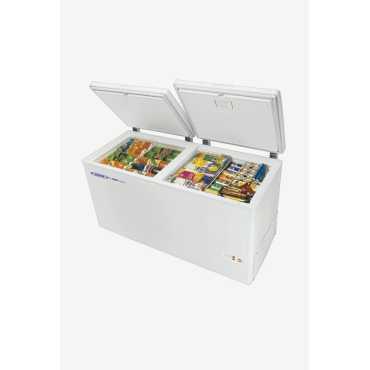 Voltas 500 L Metal Top Double Door Deep Freezer - White