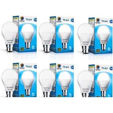 Tejas 5W Standard B22 LED Bulb White Pack of 6