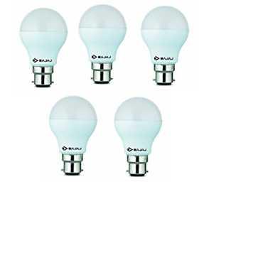 Bajaj 5W B22 LED Bulb (Cool Day Light, Pack Of 5)