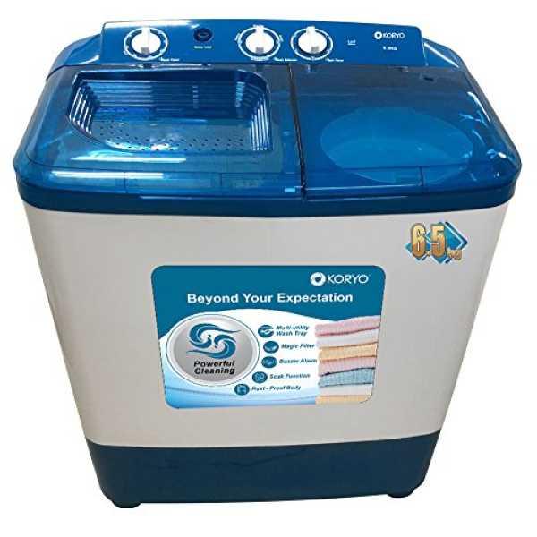 Koryo 6.5 Kg Semi Automatic Washing Machine (KWM6818SA) - Blue