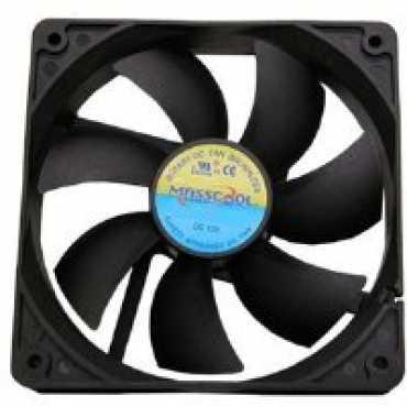 Masscool FD12025B1L3/4 120mm Cooling Fan - Black