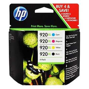 HP 920XL (Cyan,Black,Magenta,Yellow) Ink Cartridge (Set of 4) - Black