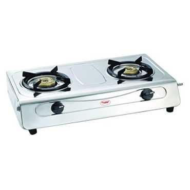 Prestige Agni Deluxe 2 Burner Gas Cooktop - Silver