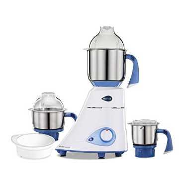Preethi Blue Leaf Diamond 750W Mixer Grinder - White   Blue