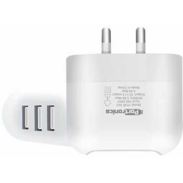 Portronics POR-543 3.4A 3 USB Port Charger - White